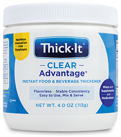 Photo of Thick-It® Clear Advantage® Instant Food & Beverage Thickener Packaging