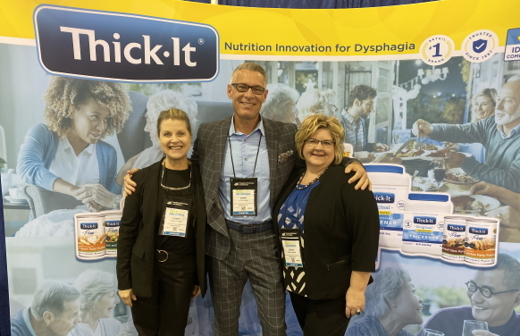 Members of the sales team Susan Norris, Chris Glenn and Cherie Larson at FNCE 2019.
