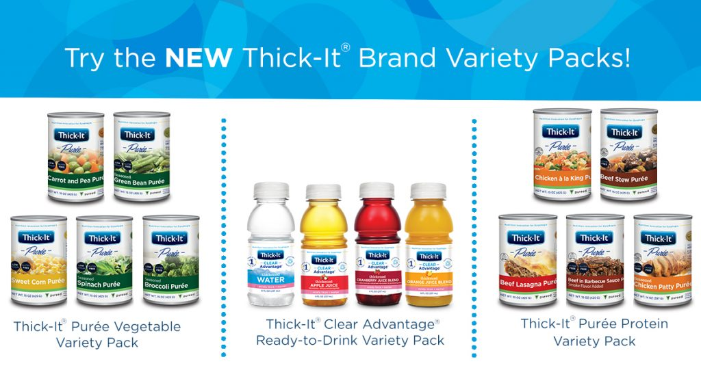 Thick-It® Brand Purée Protein, Purée Vegetable, and Ready-to-Drink Variety Packs Now Available