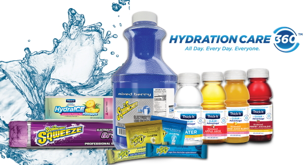 HydrationCare360™ products from the Thick-It® and Sqwincher® brands.